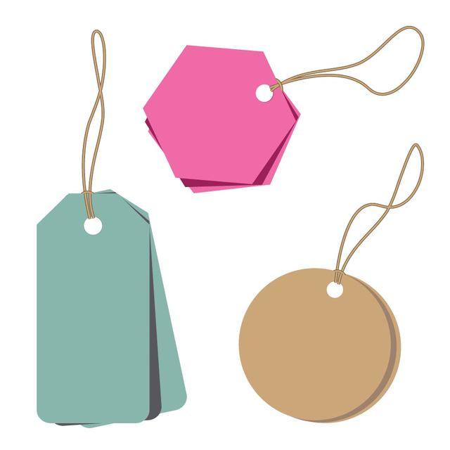 Free Minimalist Abstract Price Tags