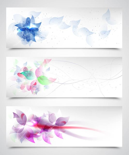 Free Fluorescent Artistic Floral Backgrounds
