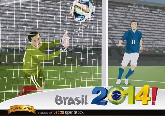 Free Brasil 2014 Goal capture