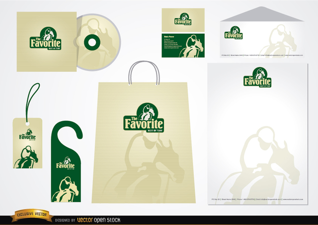 Free Turf Stationery packaging design