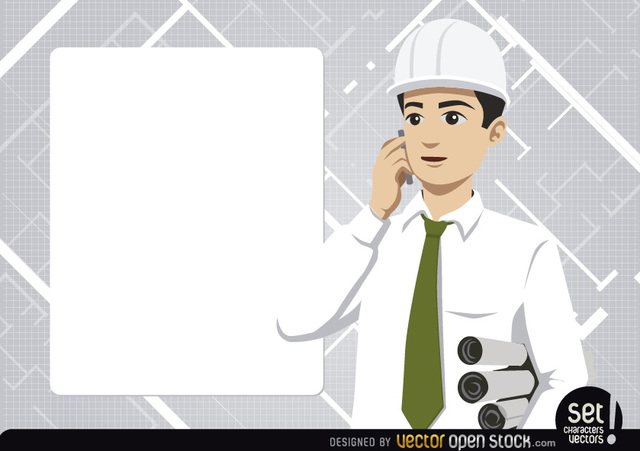 Free Engineer with message board and phone