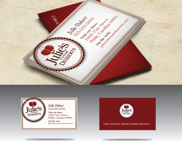 Free Vintage Baker Shop Business Card