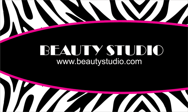 Free Black & White Zebra Print Business Card