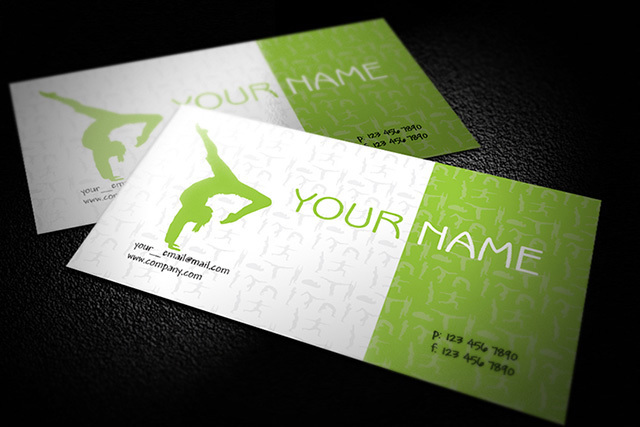Free Green Yoga Business Card Template