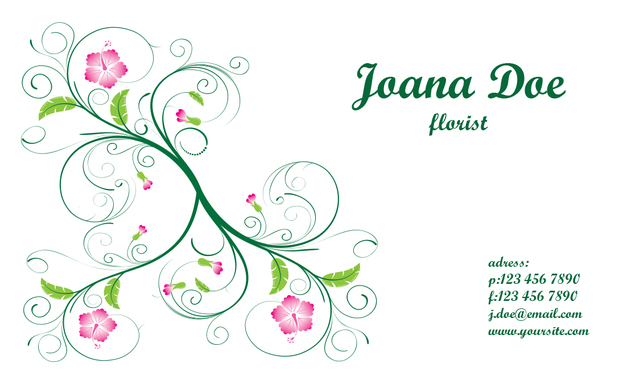 Free vectors elegant floral business card template business cards cheaphphosting Gallery