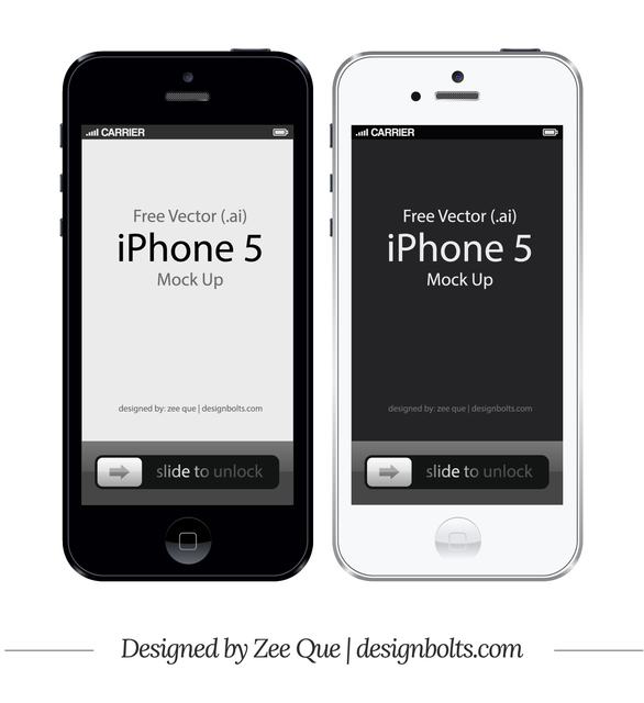 Free Apple iPhone 5 Front Mockup