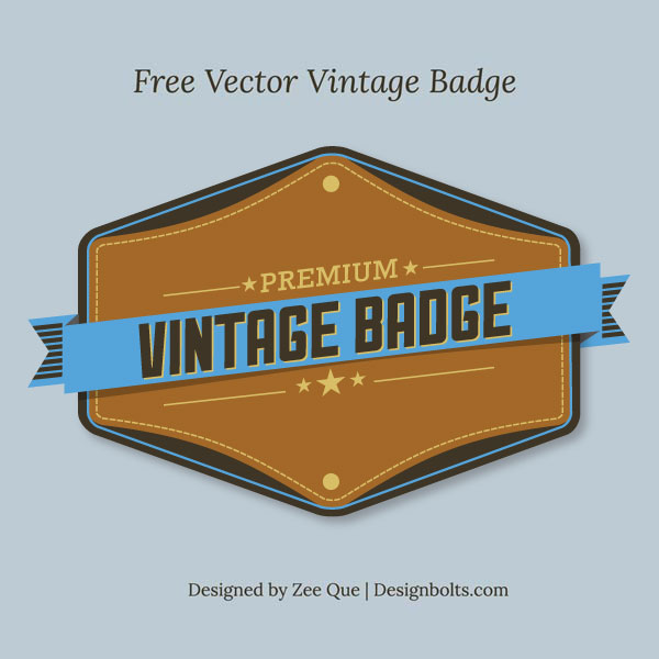 Free Vintage Premium Badge