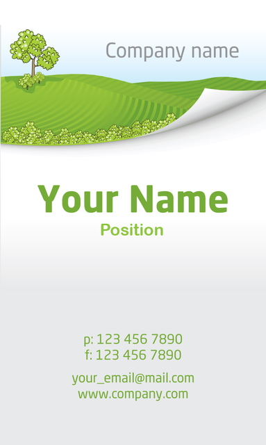 Free Nature Business Card Template