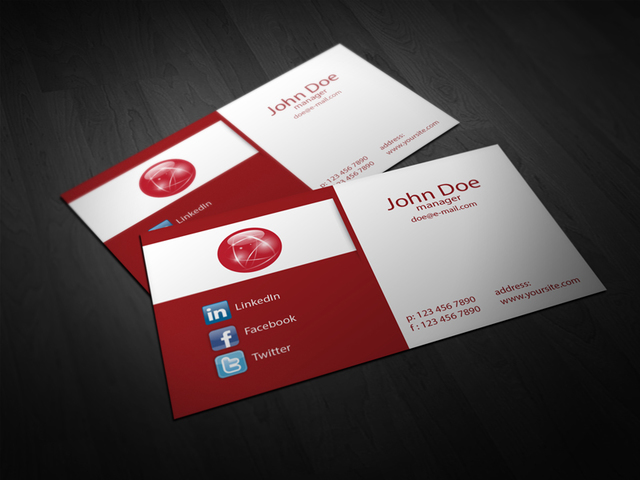 Free Abstract 2 Fold Corporate Business Card