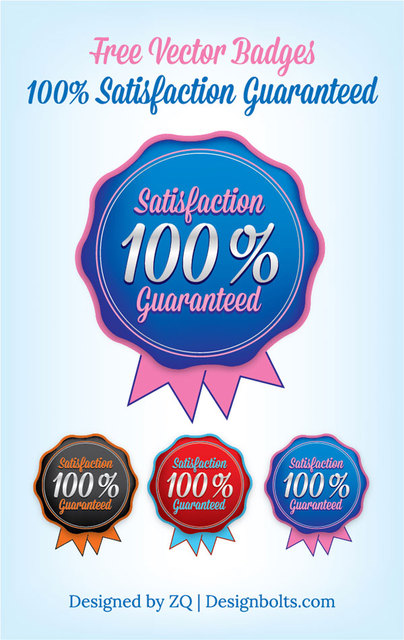 Free Rounded Satisfaction Guaranty Badge Template