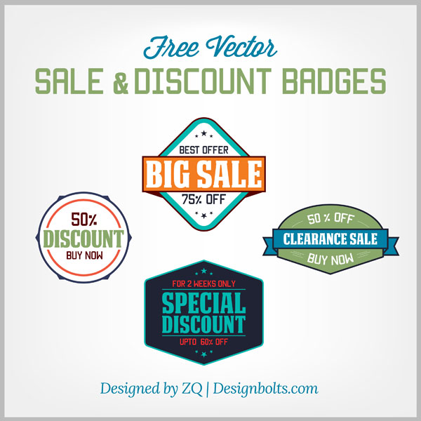 Free Vintage Sale & Discount Badges