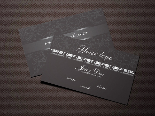 Free Dark Jewelry Business Card Design