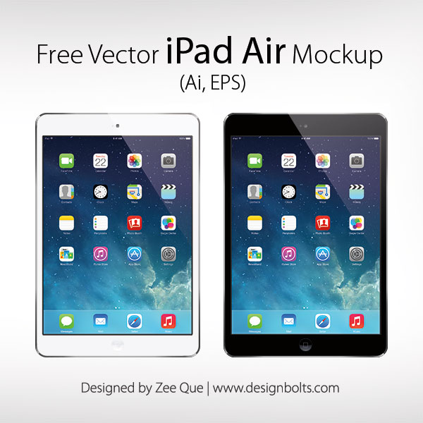 Free Apple iPad Air Mockup