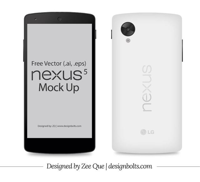 Free Front & Back Google Nexus 5 Smart Phone