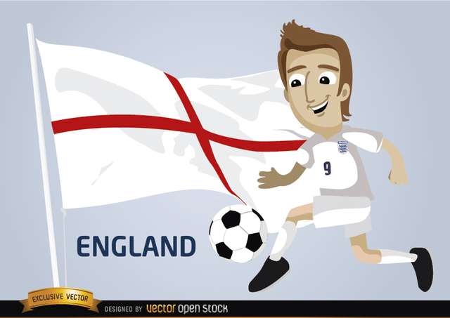 Free England football player with flag