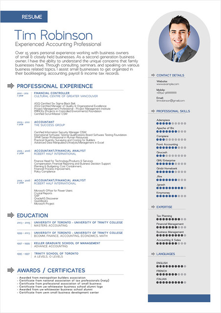 Free Classic 1 Page Resume Template