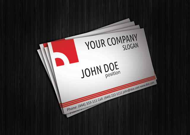 Free Abstract Red Corporate Business Card