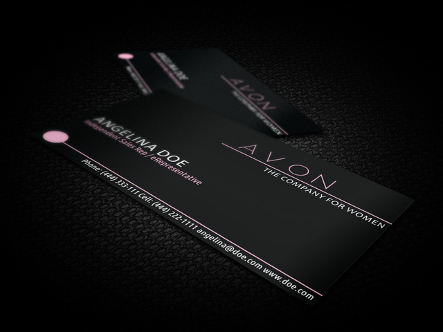 Free Black Avon Business Card