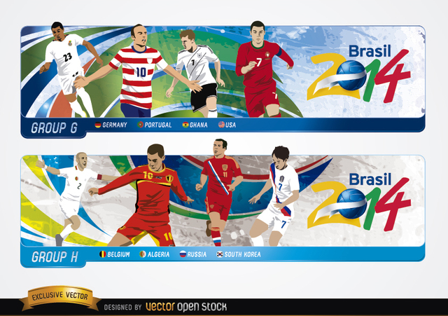 Free Headers with groups G H Brazil 2014