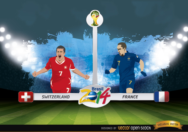 Free Switzerland vs. France match Brazil 2014