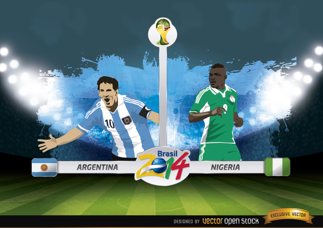 Free Argentina vs. Nigeria match Brazil 2014