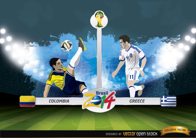 Free Colombia vs. Greece match Brazil 2014