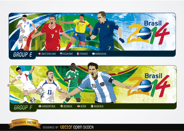 Free Headers with groups Brazil 2014
