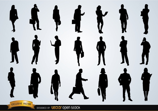 Free Business people silhouettes
