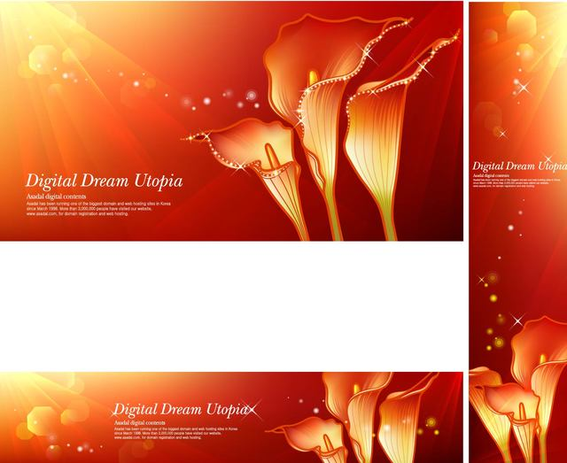 Free Red Zantedeschia Bright Background with Shades