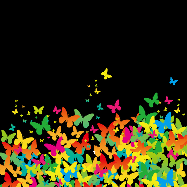 Free Flat Painted Butterfly Background