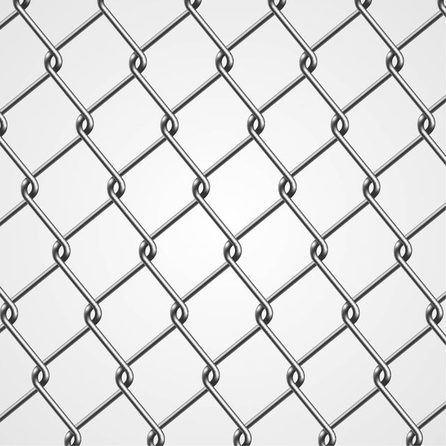 Free Realistic Metal Chain Fence