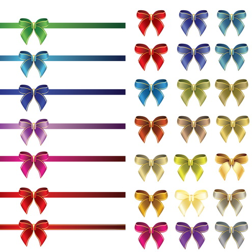Free Glossy Ribbon and Bows