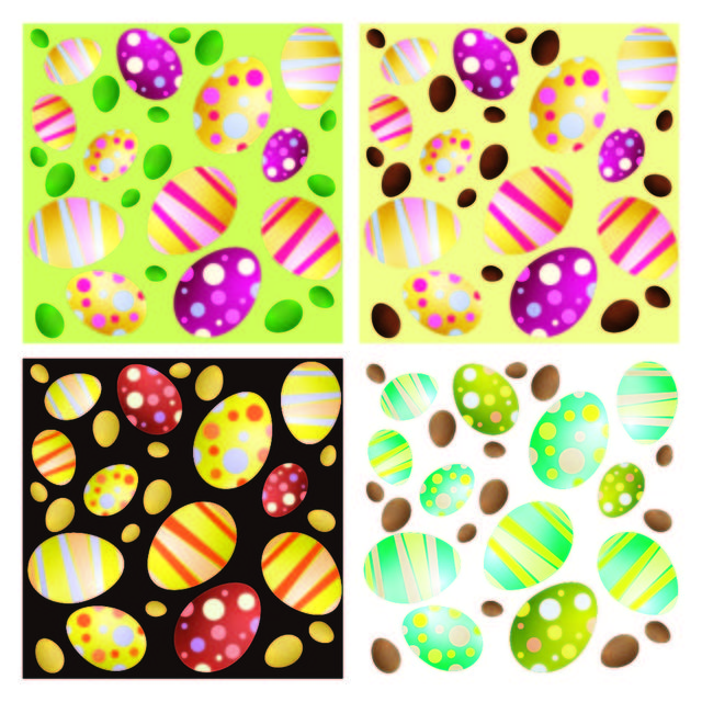 Free 4 Seamless Easter Egg Backgrounds