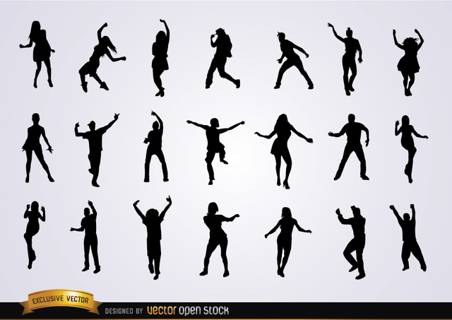 Free Set of dancing silhouettes