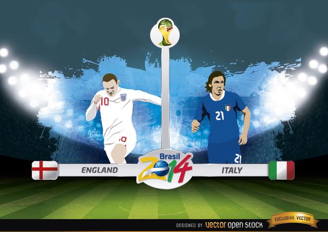 Free England vs. Italy match Brazil 2014