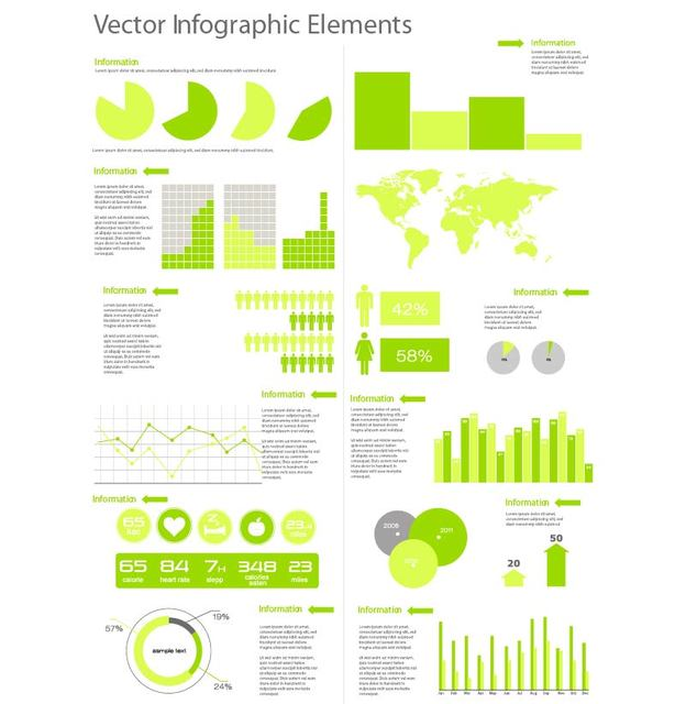 Free Vectors: Flat Style Template Infographic Set | freewebelements