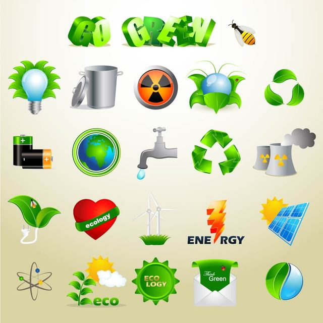 Free Vectors: Exclusive Green Ecology Icon Set | Jasmina Stanojevic