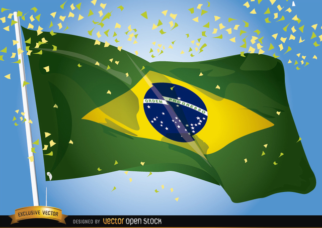 Free Brasil 2014 Flag Waving Celebration