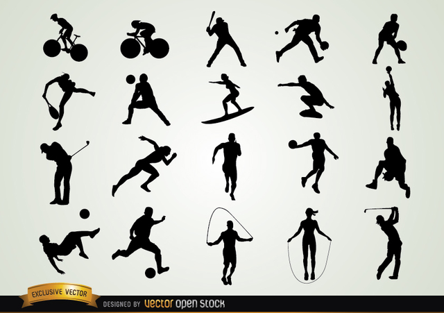 Free Set of Sport Silhouettes