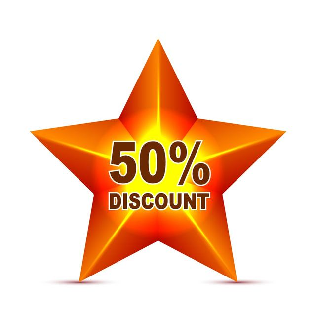 Free Red Star Discount Tag