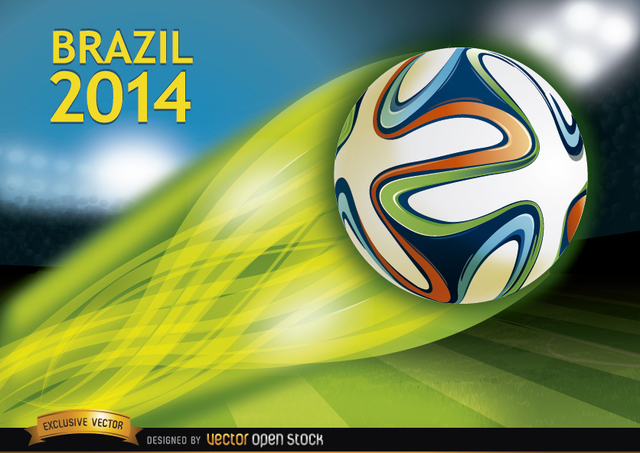 Free Brazil 2014 ball thrown in stadium