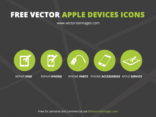 Free 5 Minimalist Apple Device Icons
