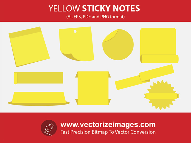 Free Sticky Notes and Banners with Wrinkles