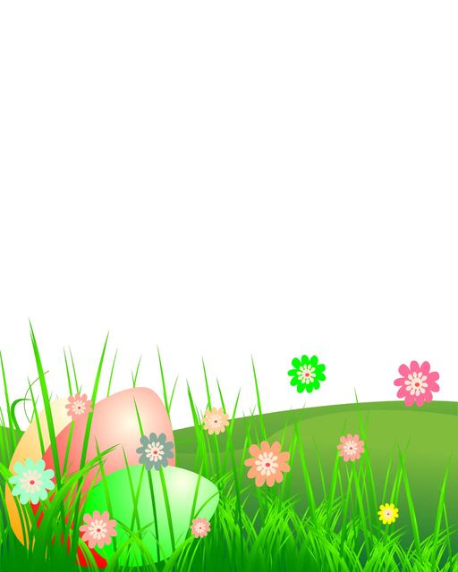 Free Easter Landscape with Grass & Flower