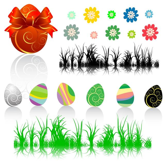 Free Easter Decorative Element Set