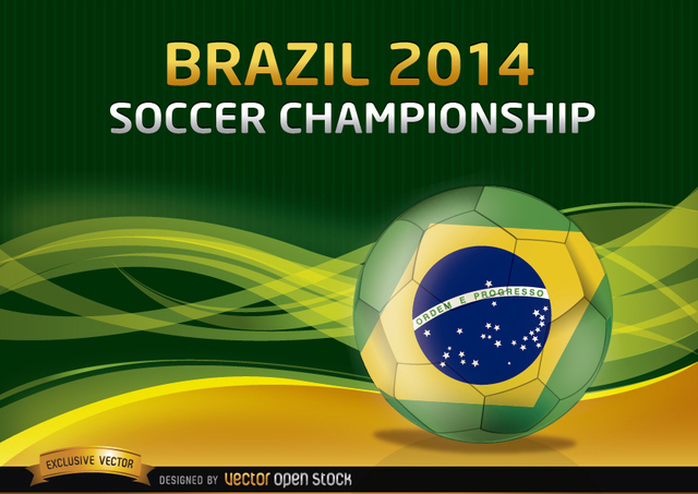 Free Brazil 2014 Soccer Championship Background