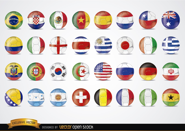 Free Brazil 2014 Football Worldcup flags