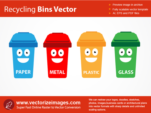 Free 4 Funky Recycle Bin Containers