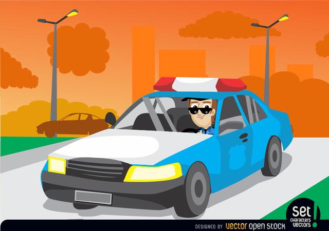 Free Patrol Car in the City