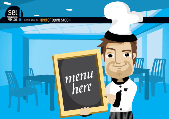 Free Chef Showing Menu in a Restaurant
